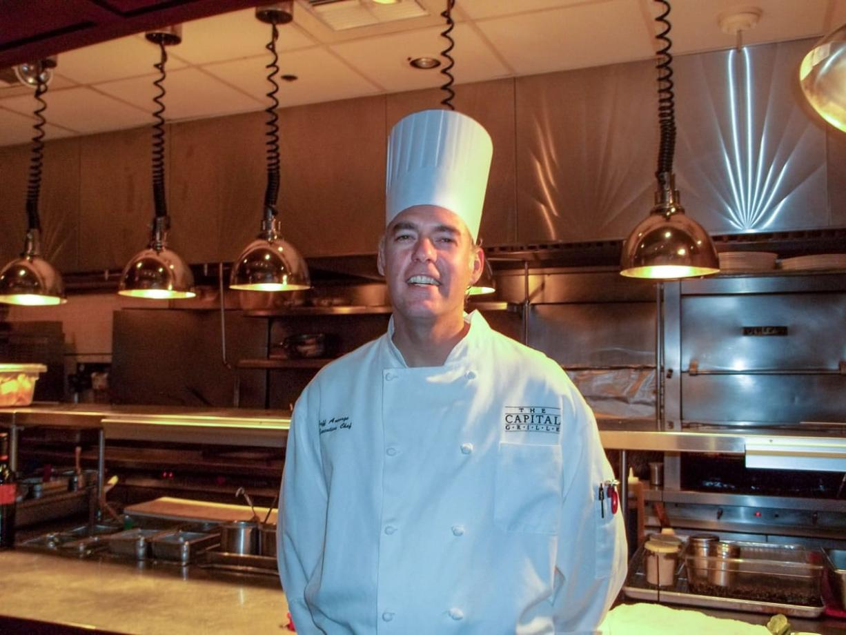 Chef Jeff Ansorge poses for a photo at the grill in Minneapolis.