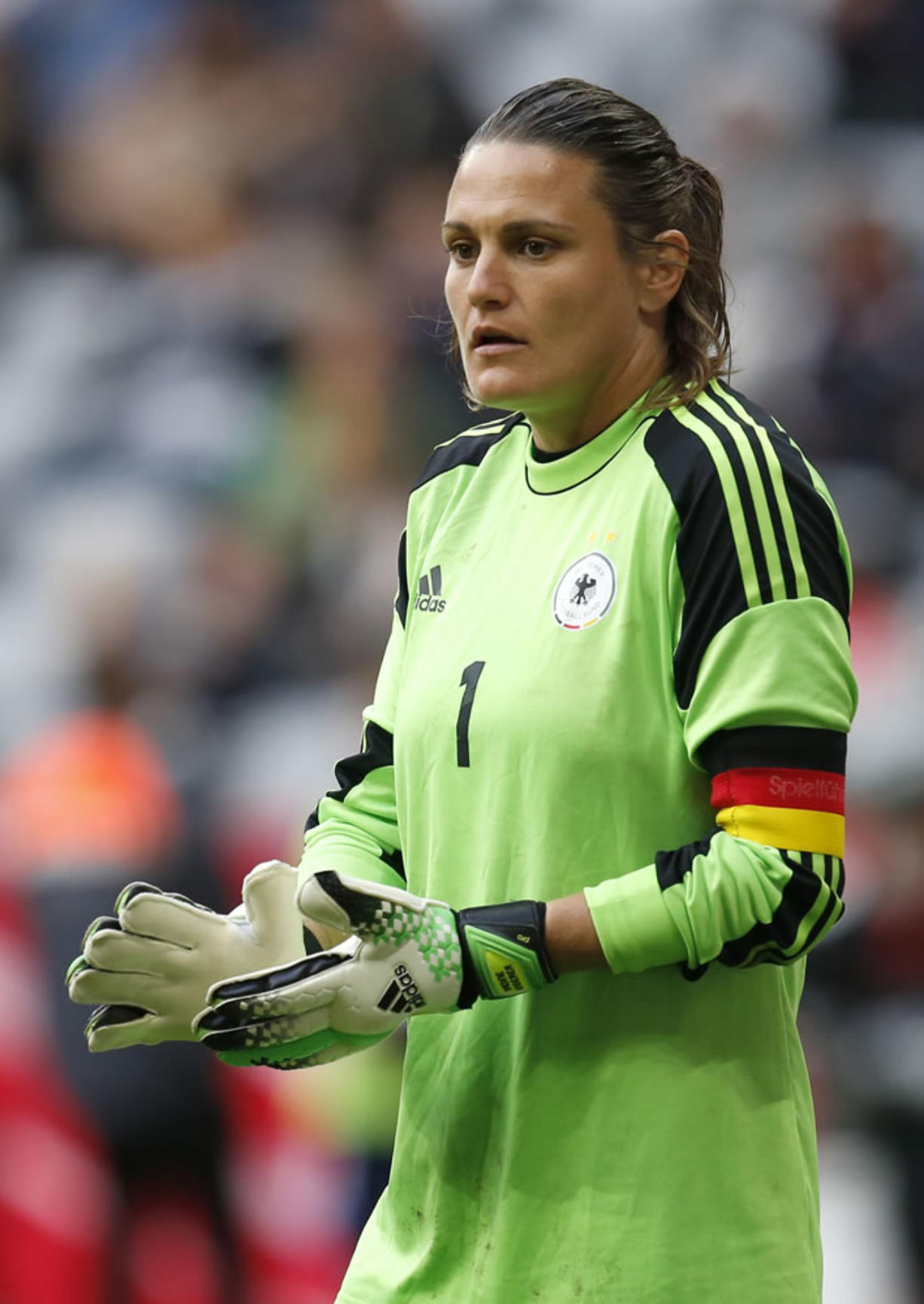 Germany goalkeeper Nadine Angerer, named the world's best female soccer player by FIFA for 2013, has joined the Portland Thorns FC.