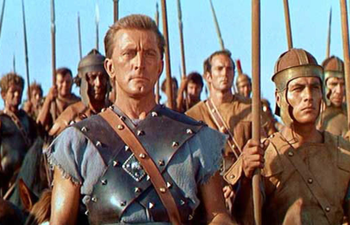 The troops rallied behind Spartacus.