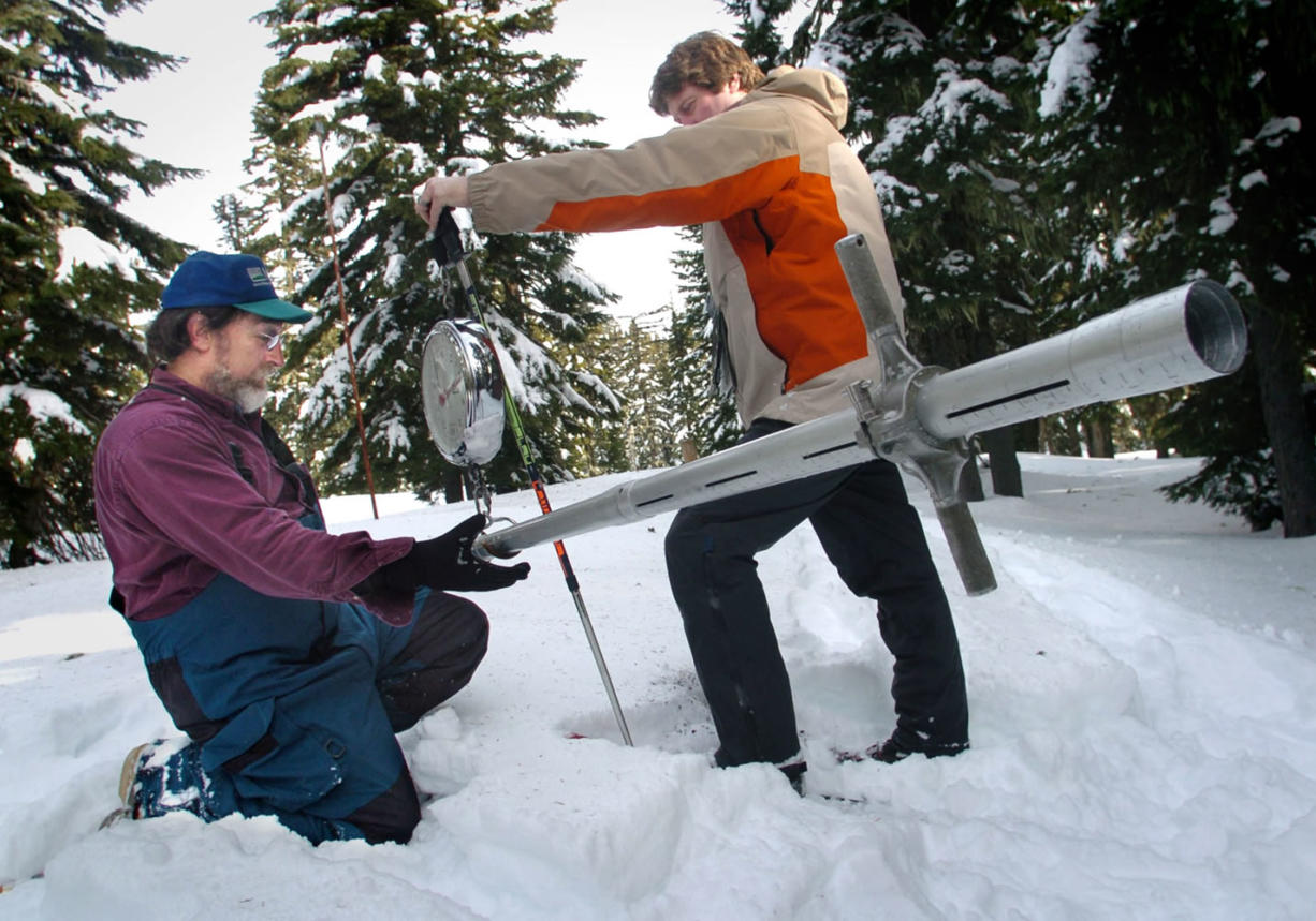 Snowpack was at or above normal in much of the Cascades as of February, despite inconsistent weather patterns.