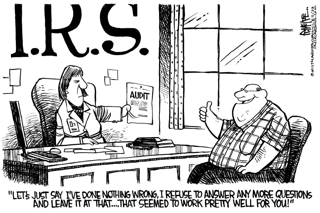 editorial cartoon irs audit strategy the columbian