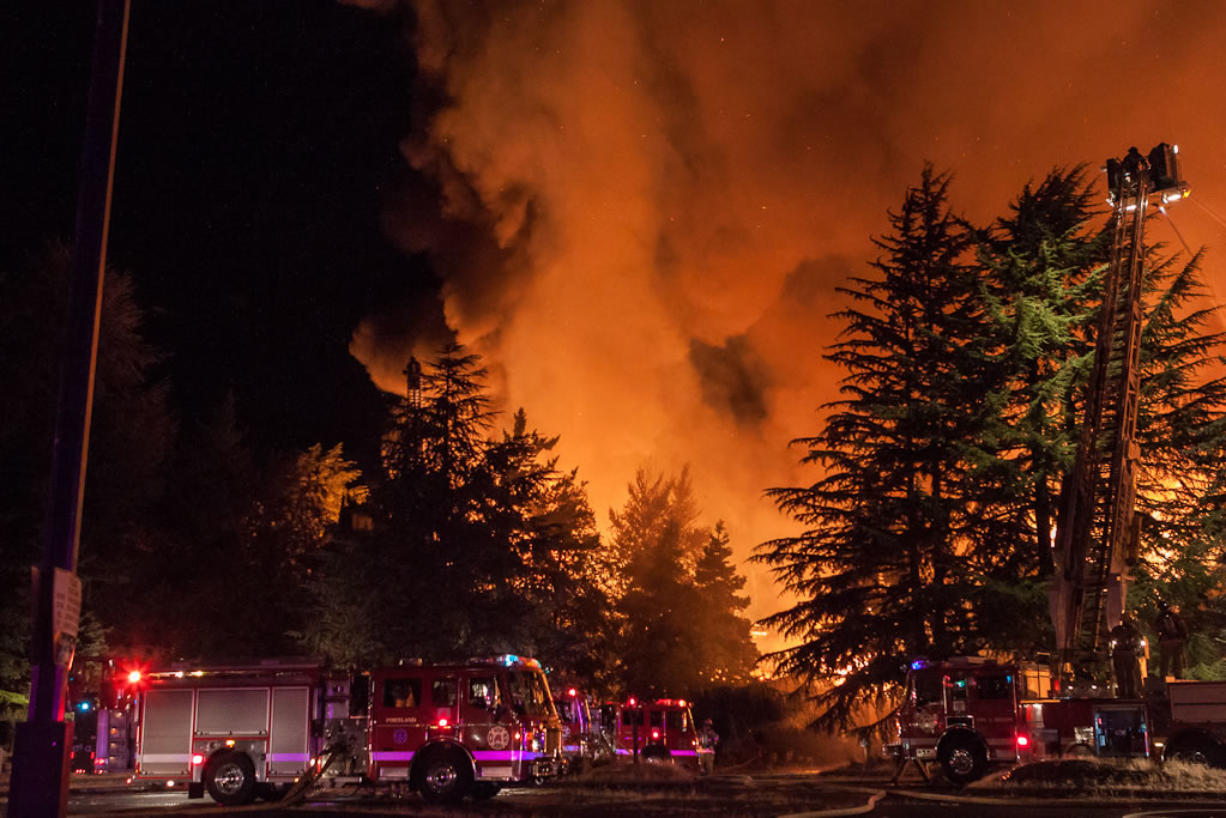 The Sept. 2 fire that destroyed the Thunderbird on the River Hotel was called the largest structure blaze in the Portland-Vancouver area in more than a decade.