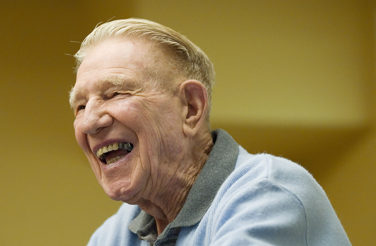 Skeet O'Connell, here in 2009, was a longtime coach and administrator at Clark College.  He died Saturday at age 96.