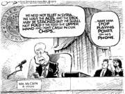 Editorial Cartoon: McCain's poker face