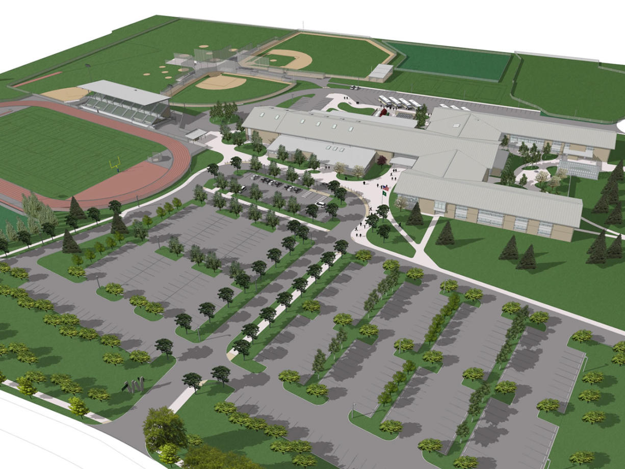 Excavation has begun on the Woodland School District's new high school, which is expected to be completed by 2015. Residents passed a bond to pay for the project in 2012.