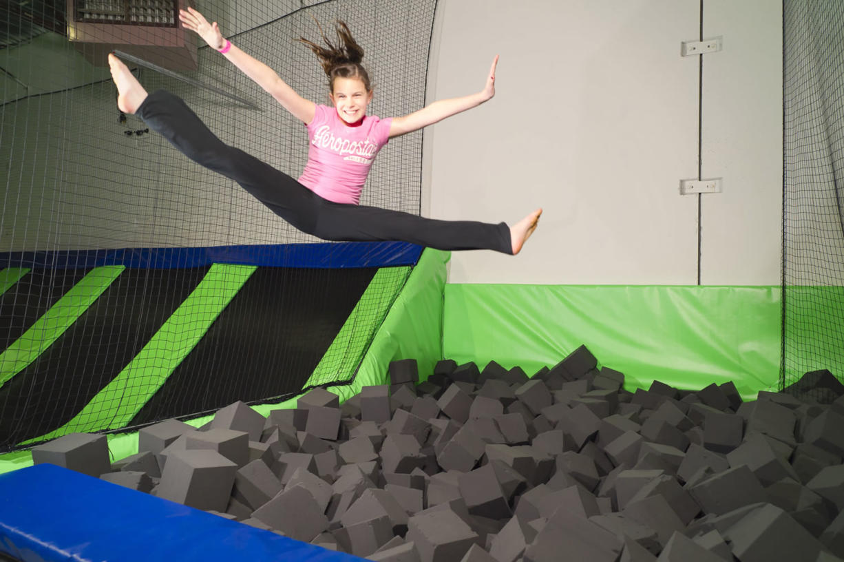 At G6 Airpark, kids can jump on multiple trampoline courts, including courts dedicated to dodgeball and dunking basketballs.