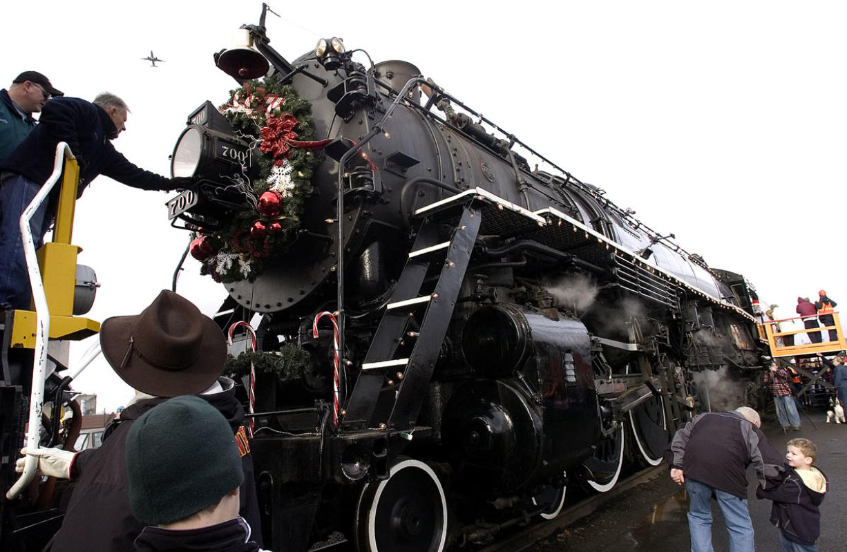 Columbian files While kids always want to meet Santa Claus, railroad buffs look forward seeing the SP&S 700 locomotive up close during the Christmas steam train event in Vancouver.