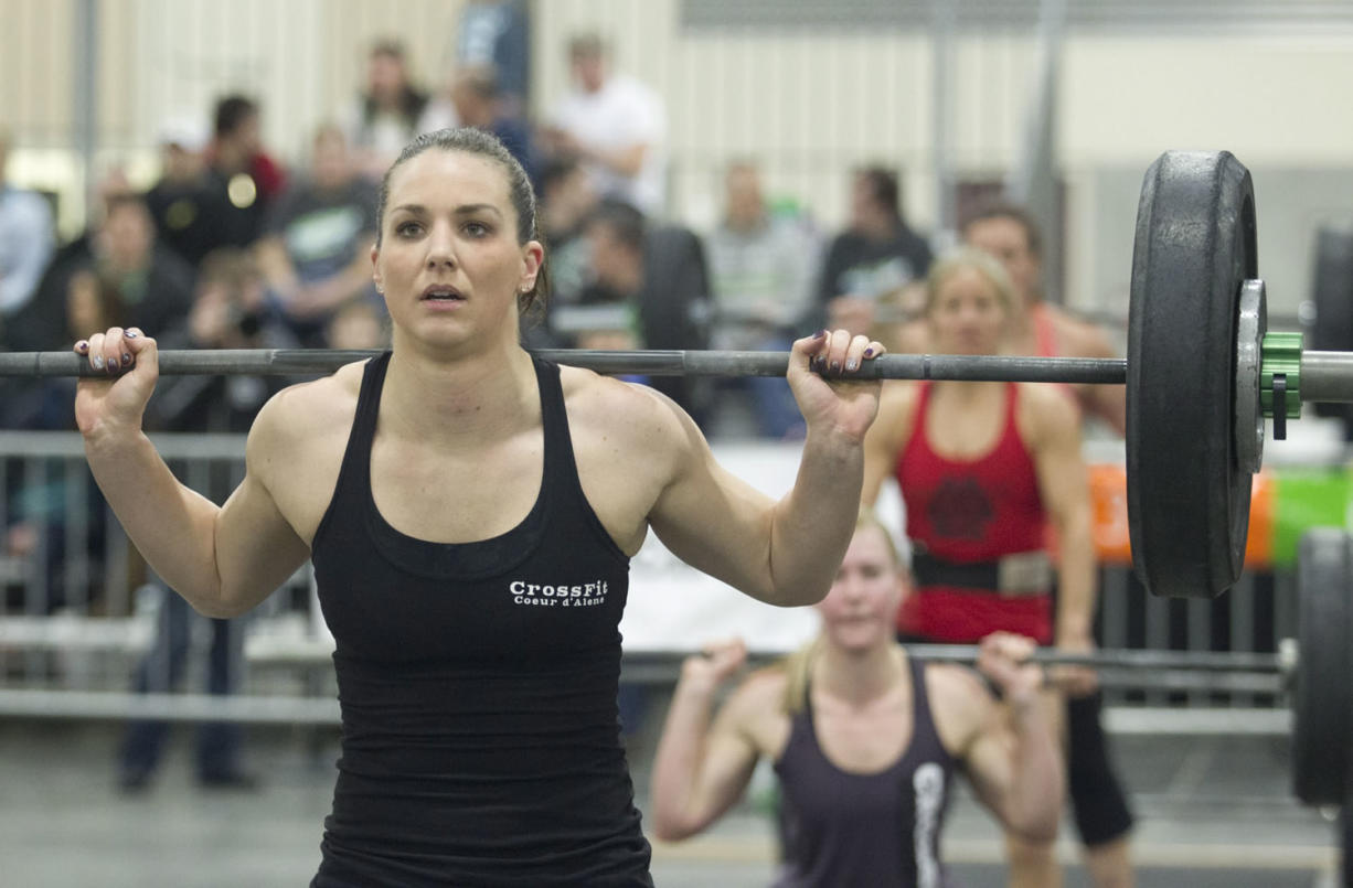 Katie Ziegler competes in the weight lifting event in the 2015 CrossFit Fort Vancouver Invitational. The event will be returning to the Clark County Event Center in Ridgefield in January 2016.