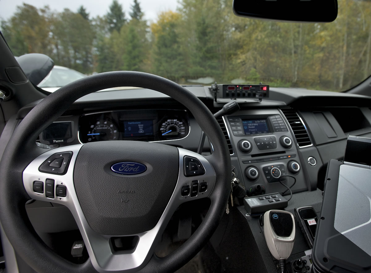 The dashboard of Camas Police Sgt.