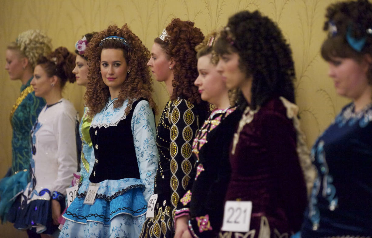 Dancers waited to compete Saturday afternoon at the Feile Samhain Irish dance competition at the Hilton Vancouver Washington.