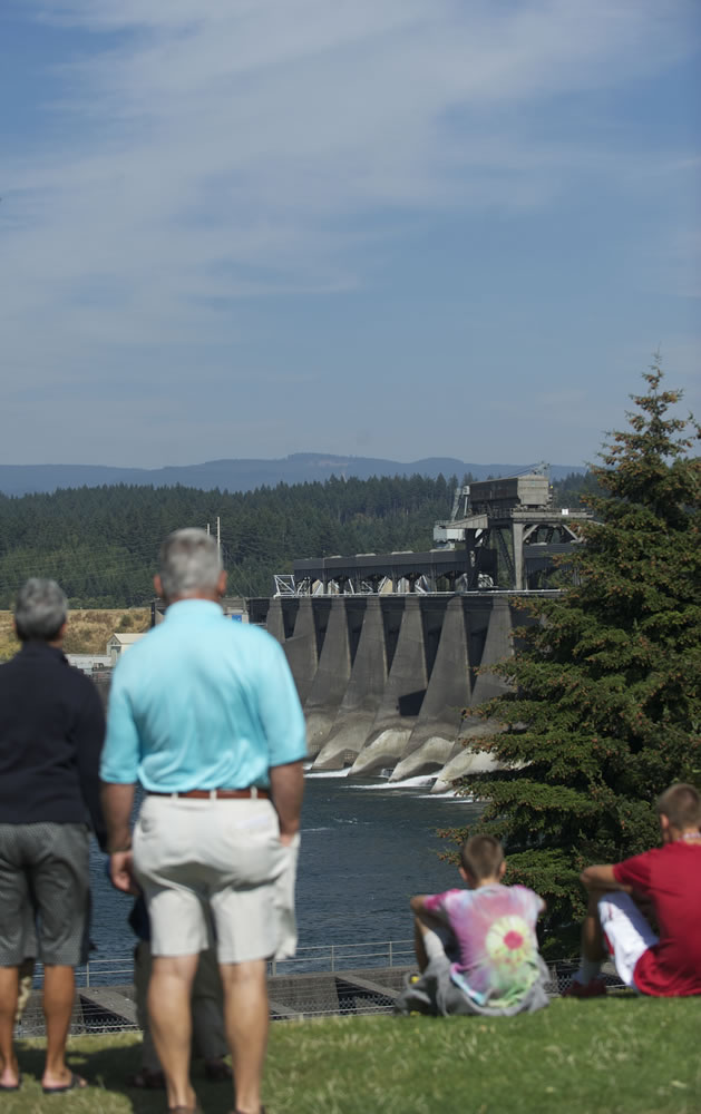 Bonneville Dam, dedicated in 1937, was the first of 31 federal dams on the Columbia Basin, 11 of them on the Columbia River itself. The Bonneville Power Administration and U.S. Army Corps of Engineers on Saturday marked the 75th anniversary of the dam's dedication with a tribute to the landmark hydroelectric facility.