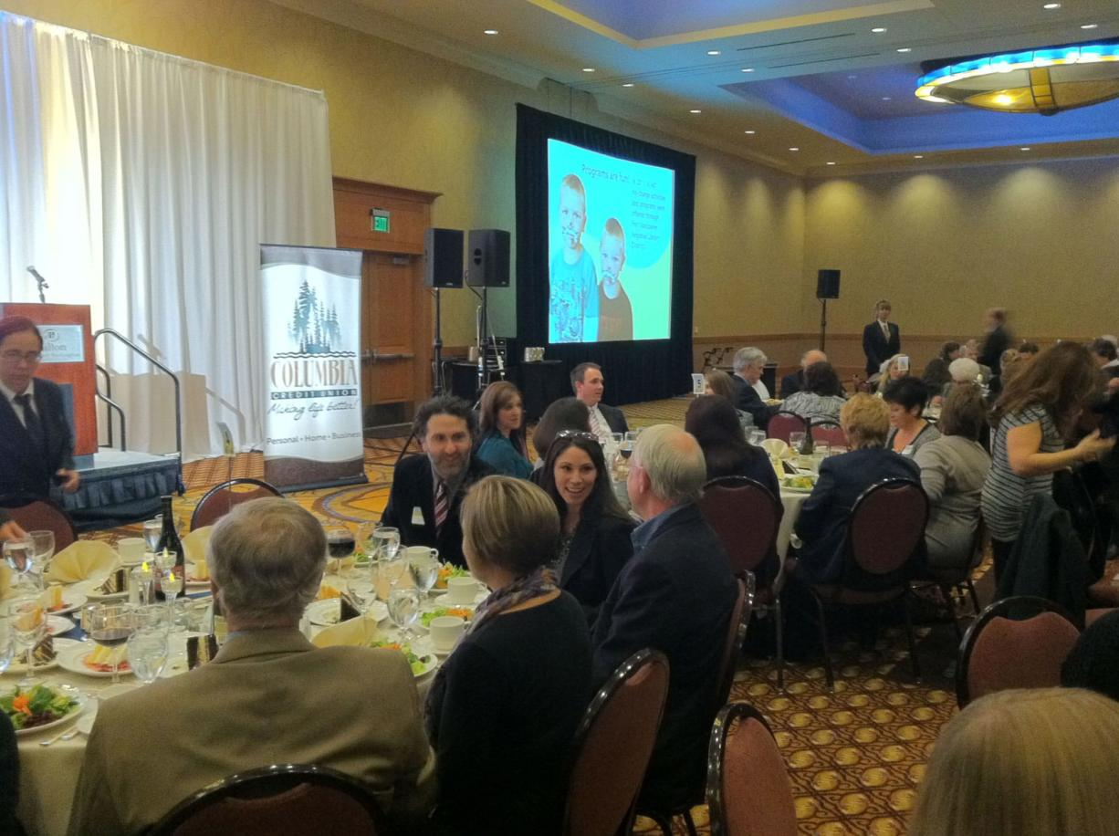 Many good people attend the Vancouver Library Foundation dinner.
