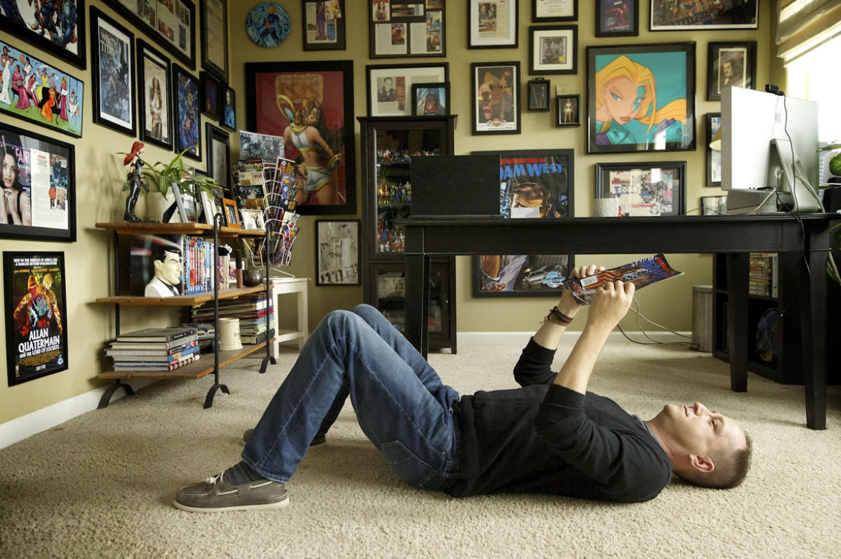 Darren Davis, president of Bluewater Productions, takes his comics, if not his insults, lying down.