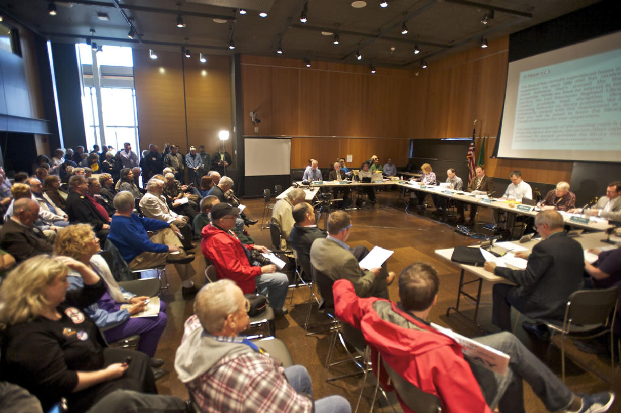 A large turn out at the C-Tran meeting on Tuesday October 8, 2013.