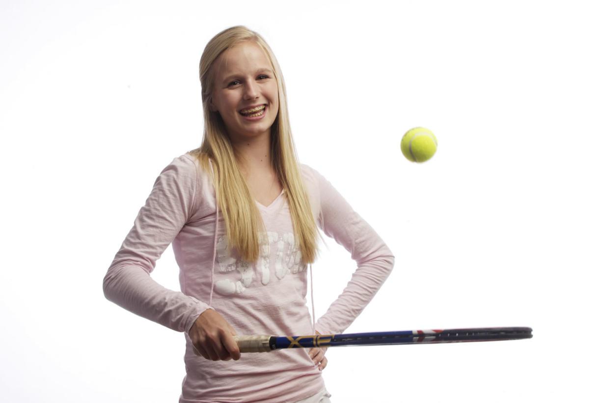 The Columbian's All Region girls tennis player Sammi Hampton of Skyview, Wednesday, June 13, 2012.