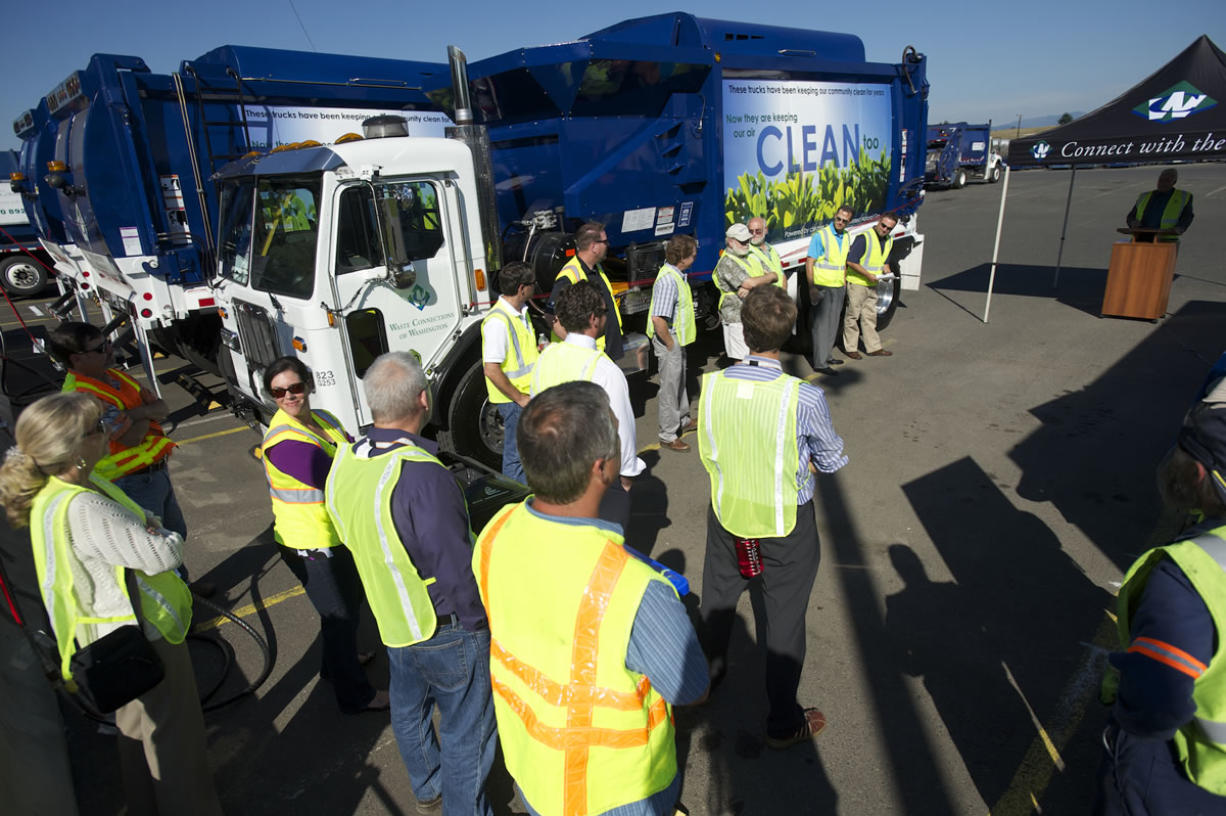 Waste Connections recently rolled out four yard debris trucks that run entirely on compressed natural gas.