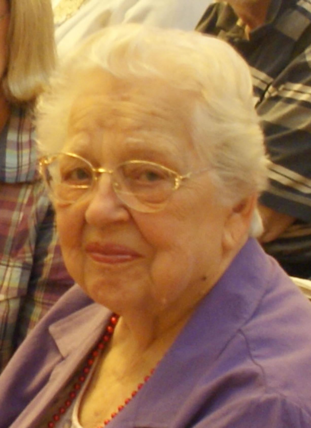Hazel Dell: Agnes Alexander, 94, was among the 12 congregation members ages 90 and older who were honored at the First Congregational United Church of Christ.
