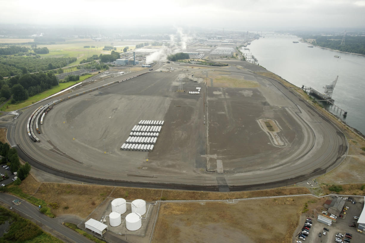 The proposed Tesoro-Savage oil transfer terminal at the Port of Vancouver would include operations at Terminal 5, west of Interstate 5.