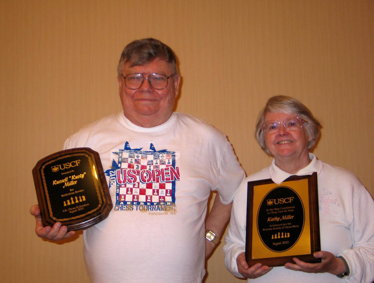 Rusty and Kathy Miller received awards from the U.S.