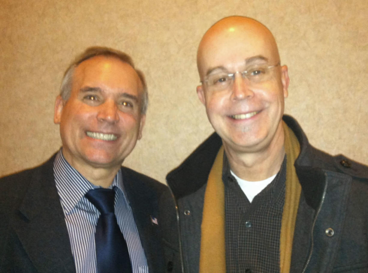 County Commissioner David Madore, left, and state Rep. Jim Moeller are both very different and the same.