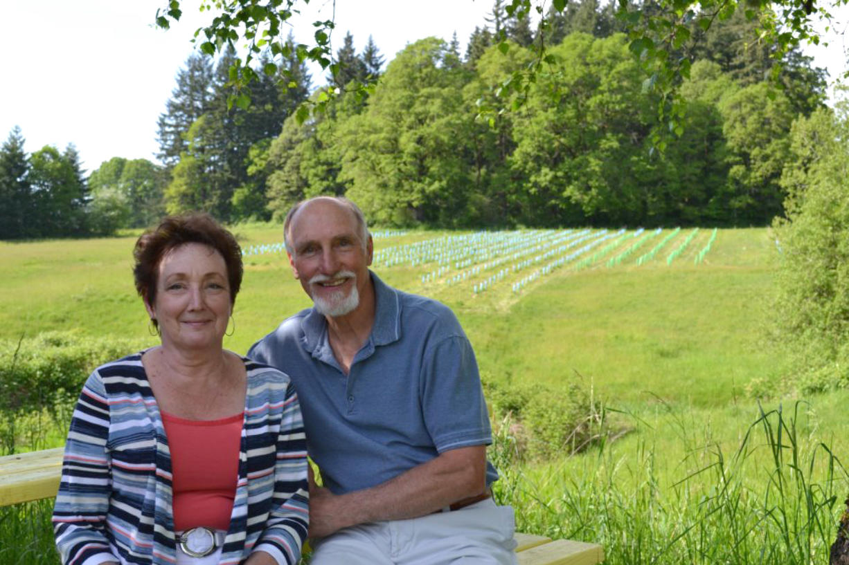 Donna Anderson and Rezabek are co-owners of Rezabek Vineyards.