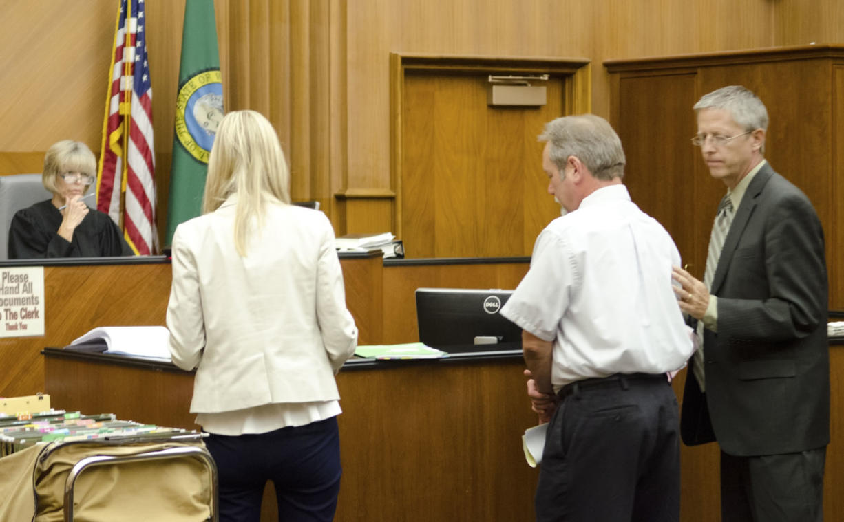 Steven W. Timmons, 54, of Camas is arraigned today on a charge of first-degree assault. He is accused of confronting a city employee with a gun because the employee left Timmons a note that he had painted a city fire hydrant the wrong color.