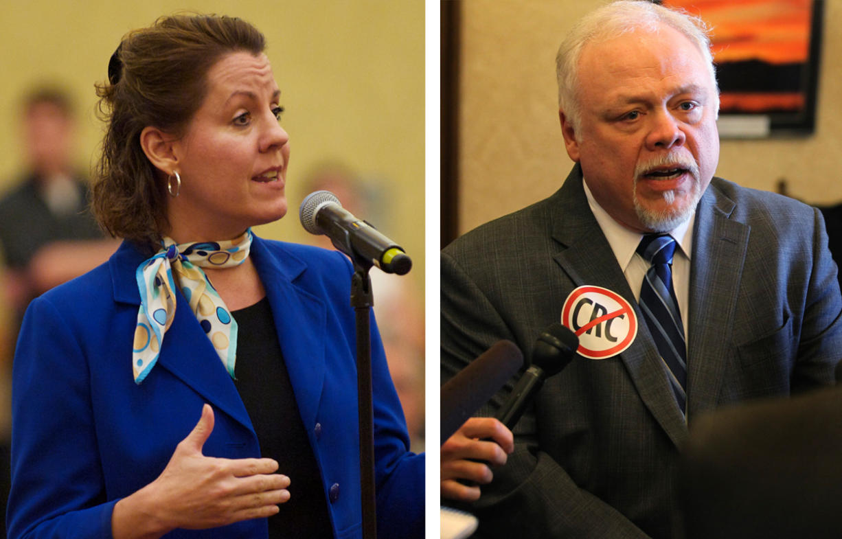 State Sen. Ann Rivers, R-La Center, left, and State Sen.