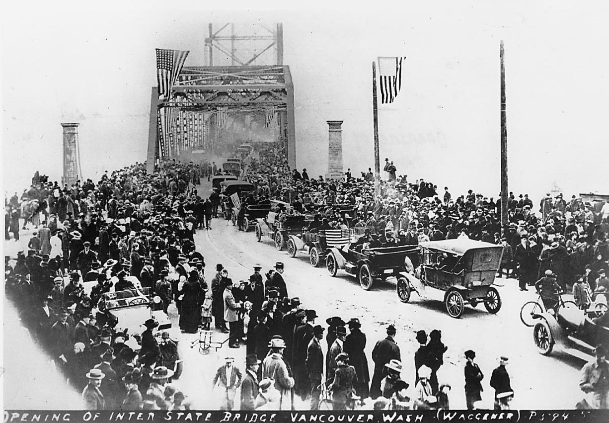 The Interstate Bridge, now called the Interstate 5 Bridge, opened in 1917. Some think the ghost of former mayor G.R. Pervical, clad in 1920s attire, still walks the old spans of the bridge on fall nights.