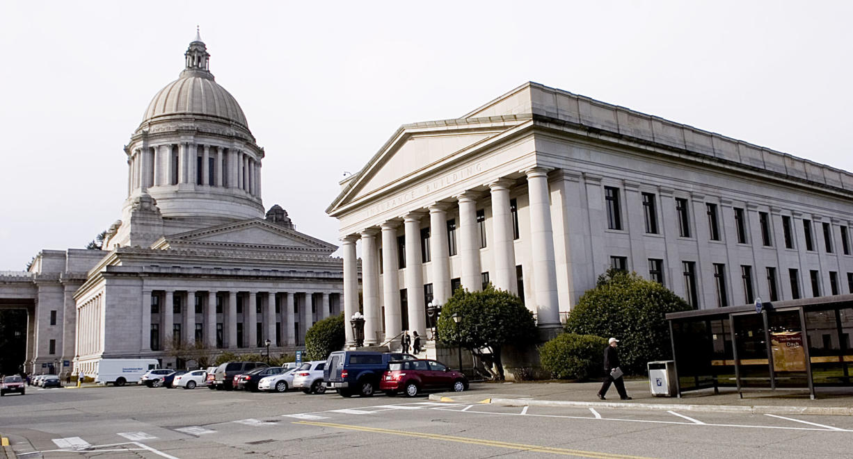 The state Supreme Court building in Olympia