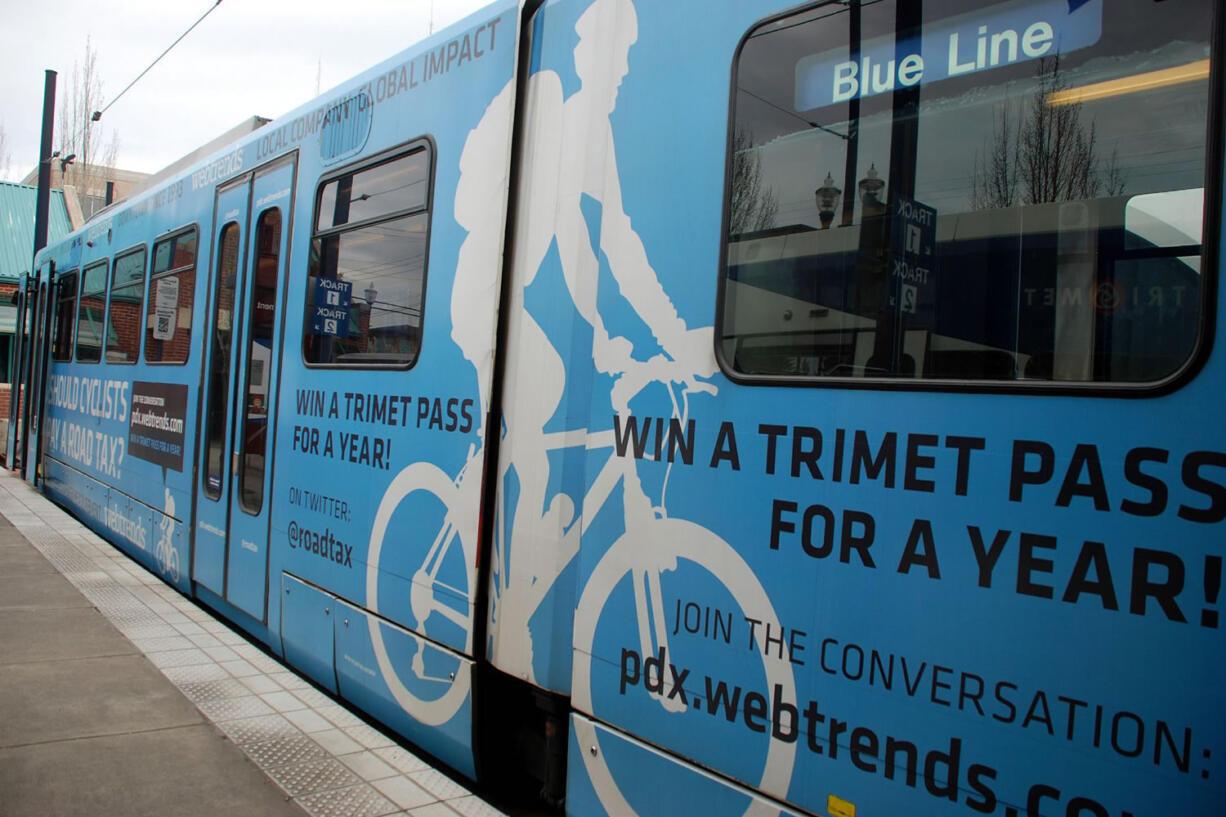Max Blue Line trains pass through the Rose Quarter transit center.