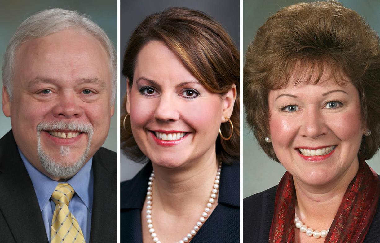 State Sen. Don Benton, R-Vancouver, left, state Sen. Ann Rivers, R-La Center, and Former Republican Sen.
