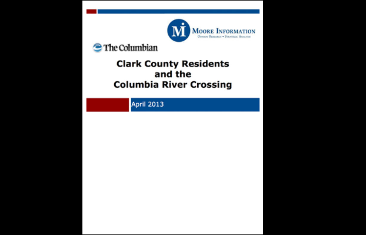 The Columbian on Tuesday released results from a scientific poll commissioned on the Columbia River Crossing.