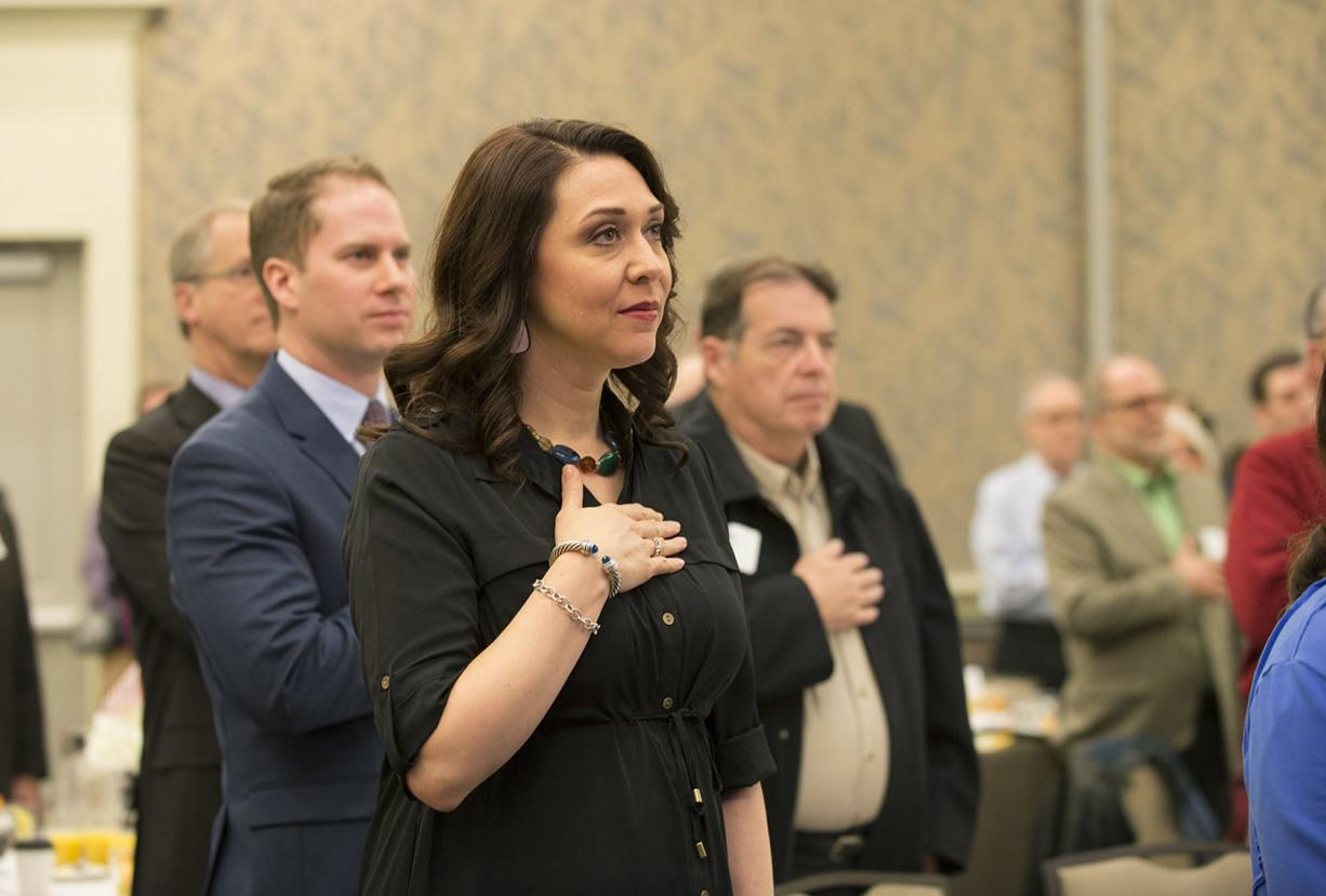 U.S. Rep. Jaime Herrera Beutler, R-Camas, hosted her campaign kickoff event at the Hilton Vancouver Washington on Friday morning. Herrera Beutler is currently serving her third term in Congress.