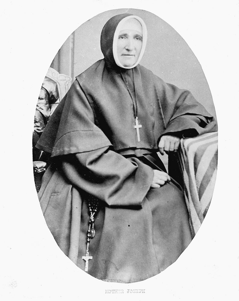 Mother Joseph in about 1881. She made some of the pews in the chapel.
