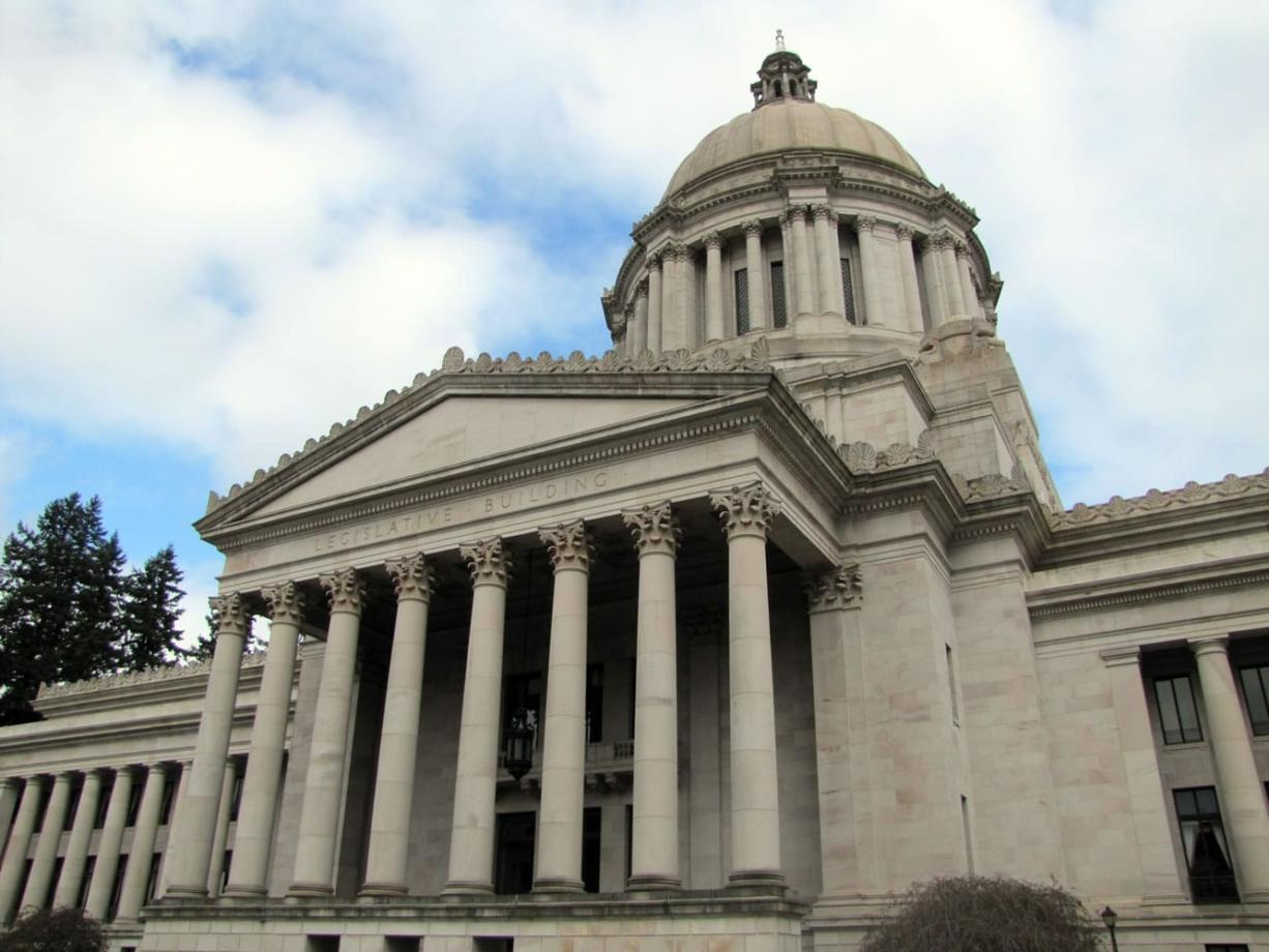The legislative building in Olympia houses the Senate and House chambers.