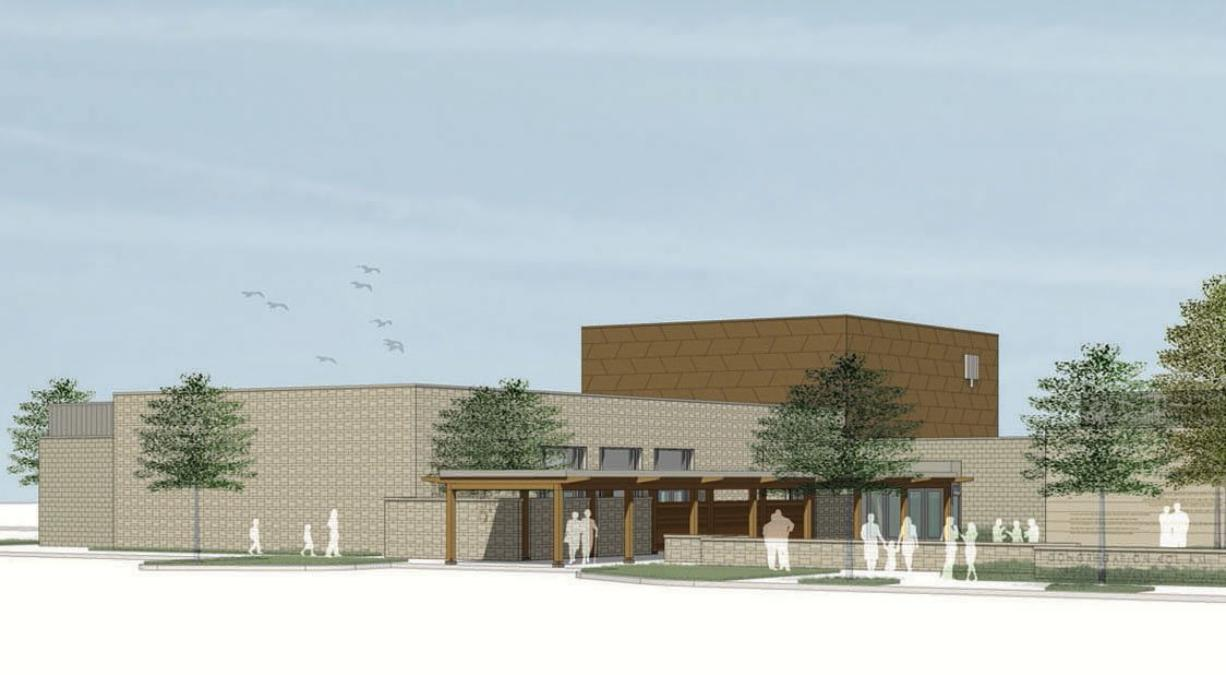 An architect's rendering of the synagogue planned by Congregation Kol Ami.