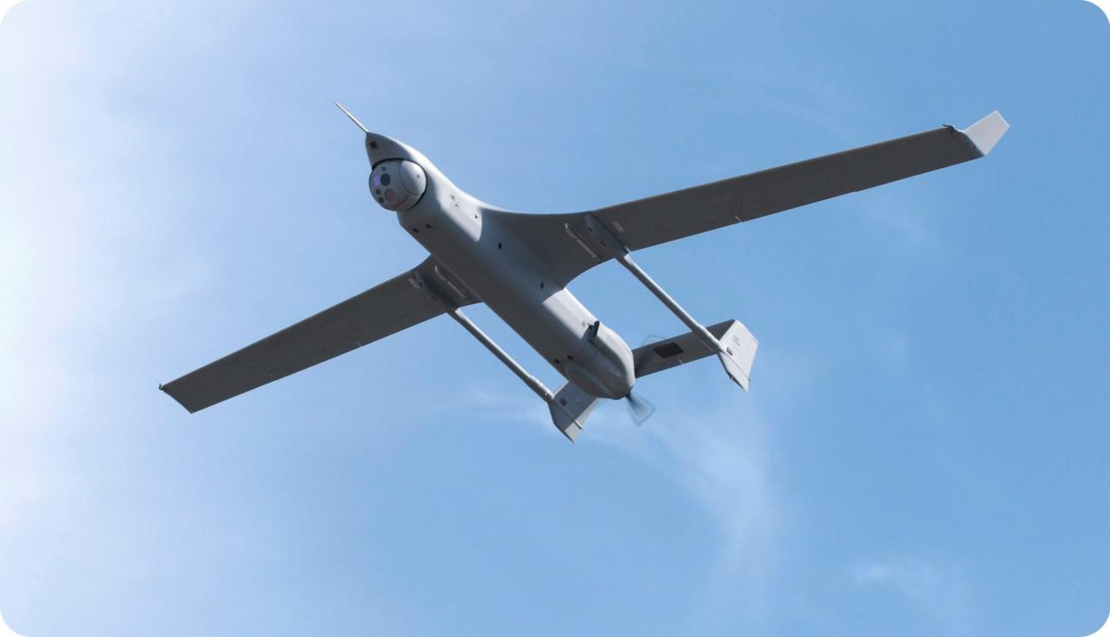 An Integrator unmanned aircraft takes a test flight.