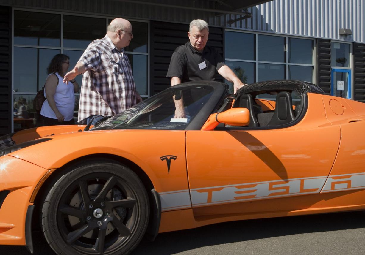 More race car than go-kart, this electric Tesla goes from 0-60 mph in 3.7 seconds.