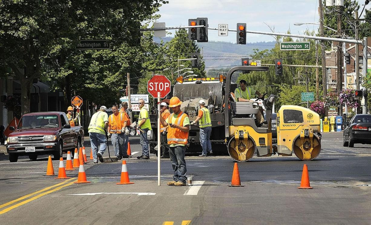 CenturyLink's utility work in downtown Vancouver stirred up rumors among opponents to light rail.