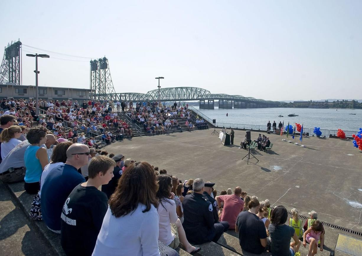 An estimated 400 people attended the 10th Anniversary 9/11 Remembrance at Vancouver Landing on Sunday morning.