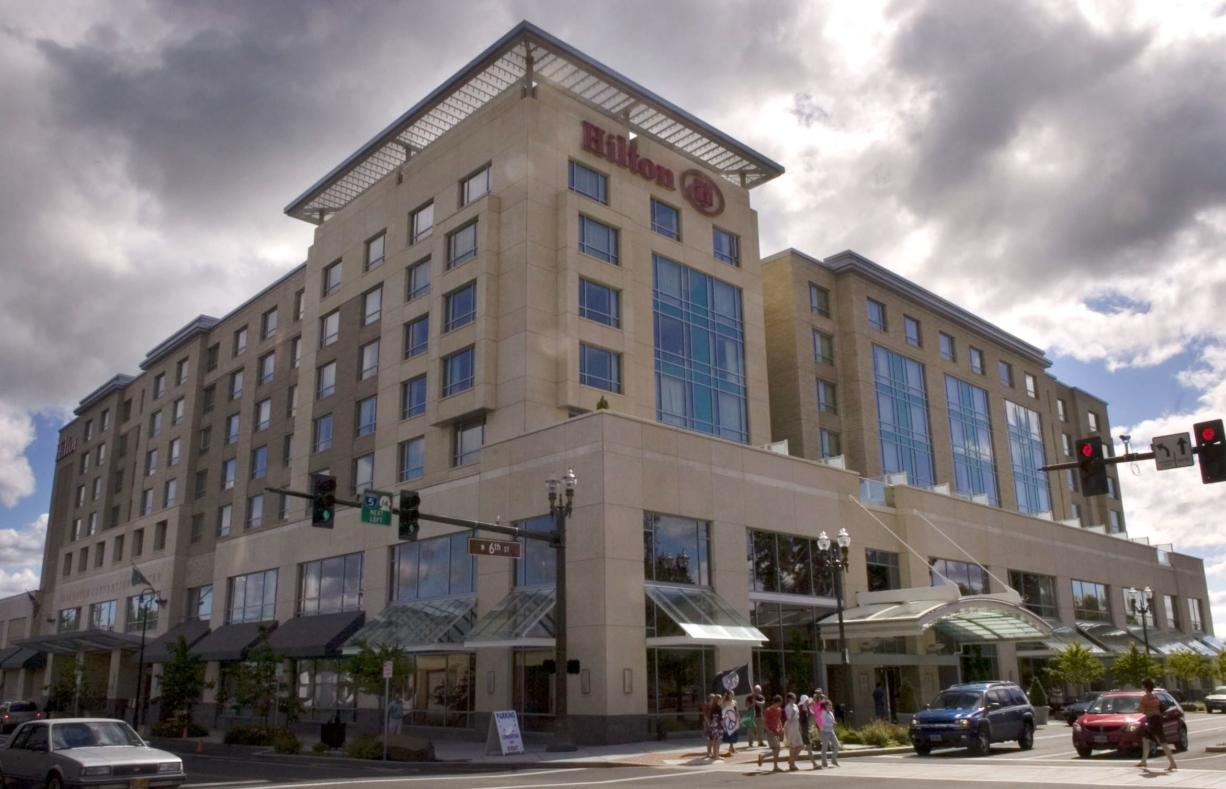Vancouver staff met with Clark County to seek new terms on debt being accumulated by the Hilton Vancouver Washington. So far, the project must pay back $4.4 million to the county.