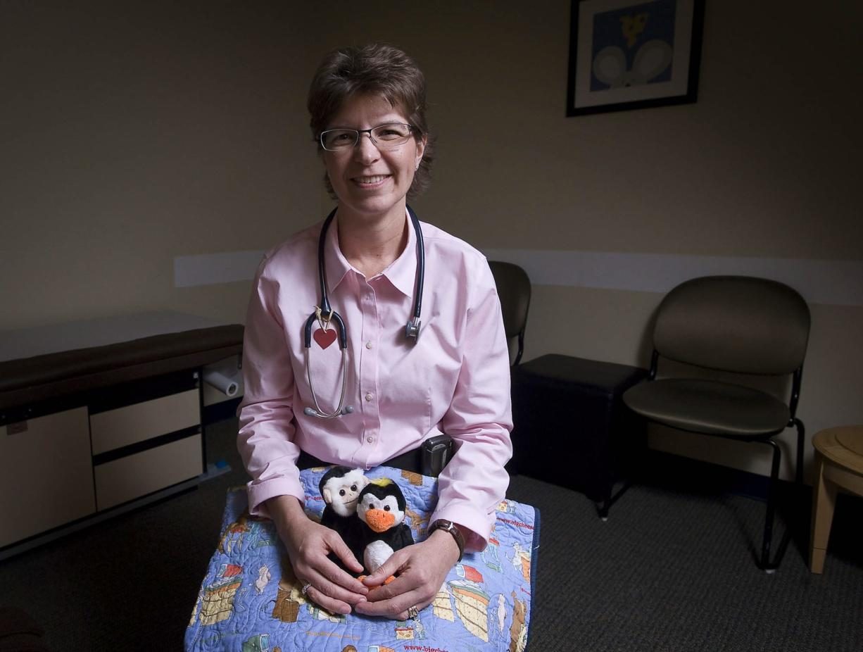 Dr. Kim Copeland leads Legacy Salmon Creek Medical Center's new Child Abuse Assessment Team, which started seeing patients in late October. Patients who come to the clinic for a medical exam after suspected physical or sexual assault are given a quilt and small stuffed animal.
