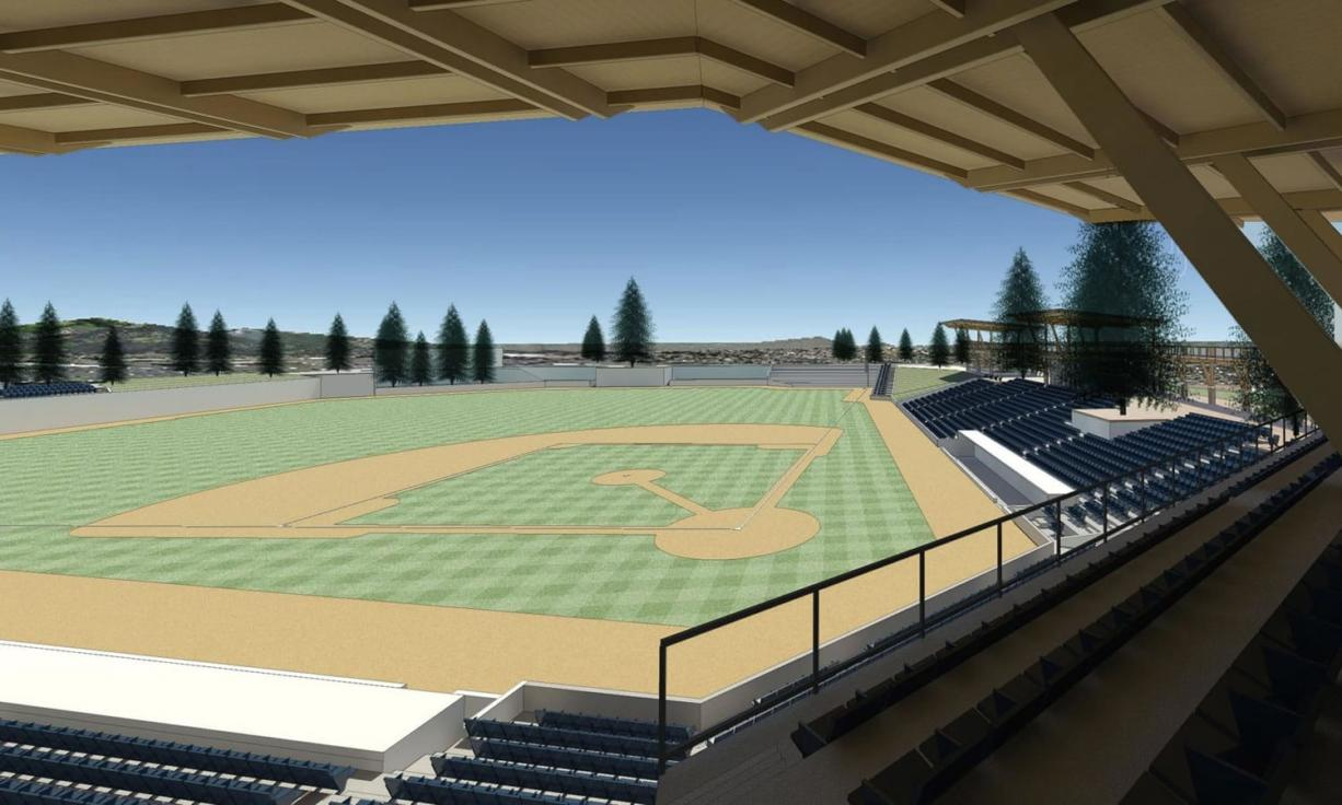 Drawing of a proposed stadium at Clark College.