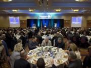 Participants at the Columbian's annual Economic Forecast breakfast listen to speeches in Vancouver in 2015.  This year's breakfast is Jan. 21.