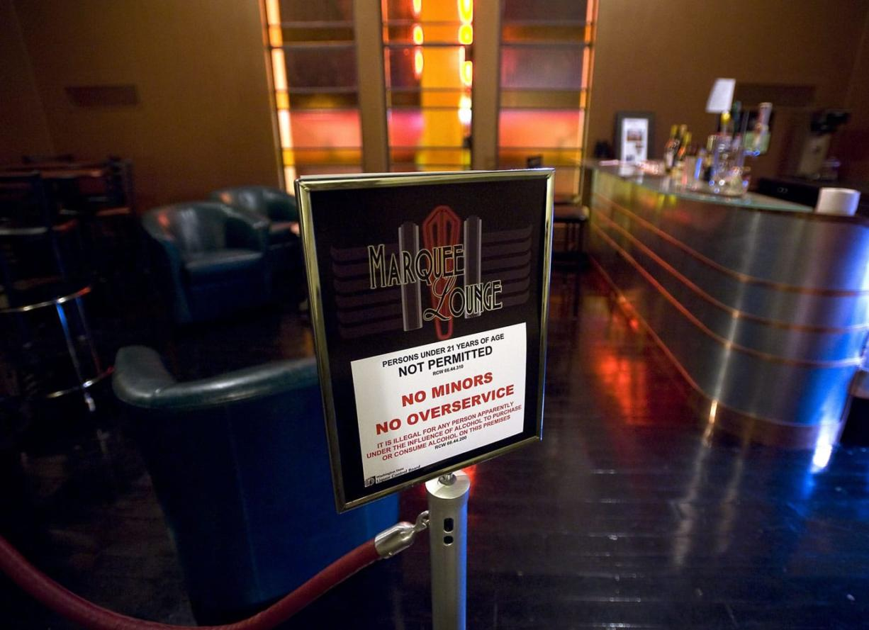 The Marquee Lounge is located upstairs at the Kiggins Theatre.