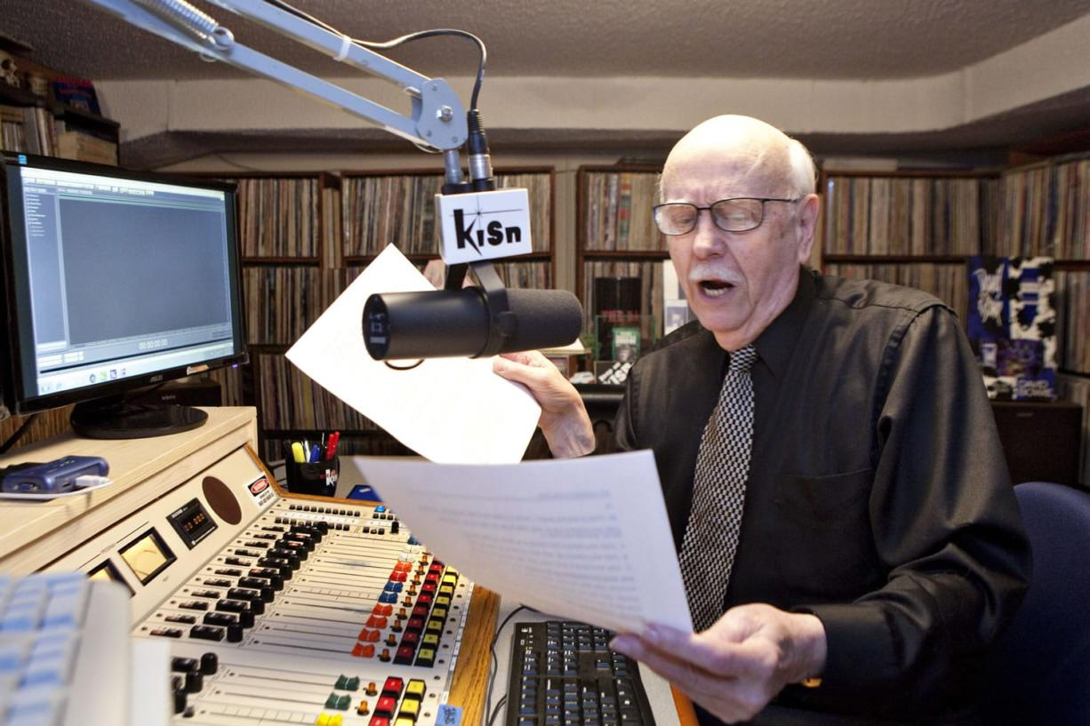 "Photos by Vivian Johnson for The Columbian Roger Hart, longtime Vancouver resident and former KISN disc jockey, records a vocal track that will become part of his daily three-hour show on an Internet ""oldies"" webcast."