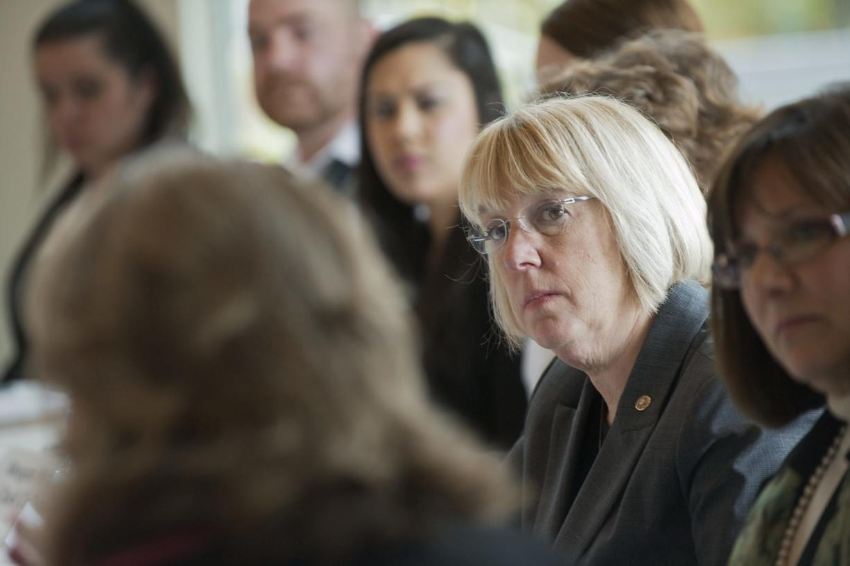 U.S. Sen. Patty Murray attends a roundtable discussion on Thursday at Clark College to talk about legislation to keep certain student loan interest rates at 3.4 percent.