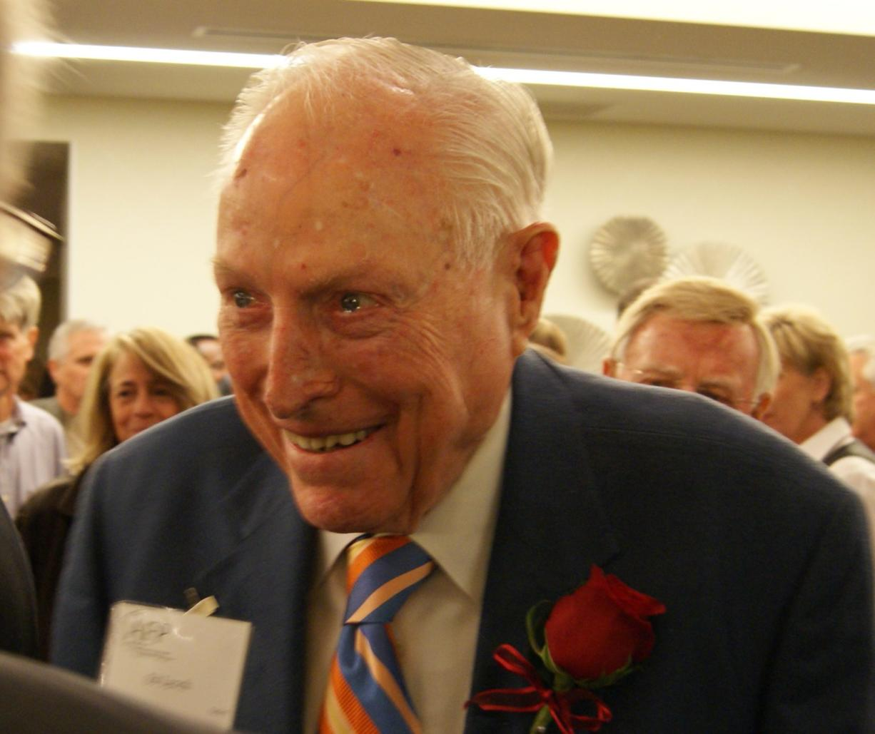 Ed Lynch, pictured recently, received the Vollum Award for Lifetime Philanthropic Achievement on Tuesday for his generous giving to various causes over the years.