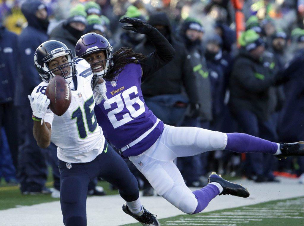 d44d81898d6 Seattle Seahawks wide receiver Tyler Lockett (16) misses a catch against Minnesota  Vikings cornerbac