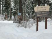 Skiers, snowshoers and snowmobilers will find about 4 feet of snow at SnowKing Sno-Park north of Trout Lake.